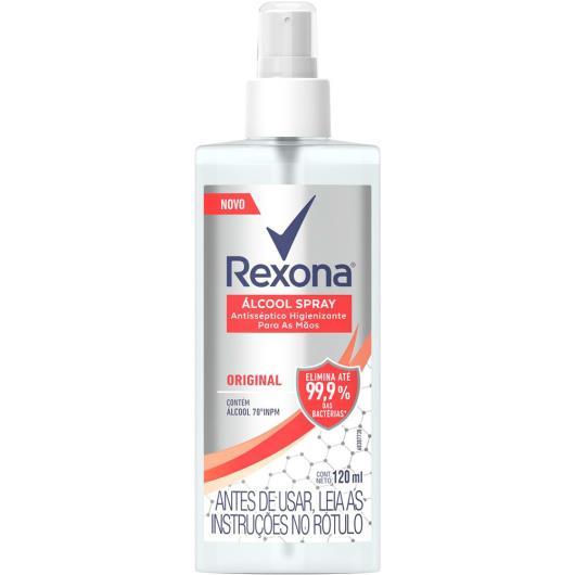 Álcool Rexona higienizador antisséptico 70º Spray - 120ml - Imagem em destaque