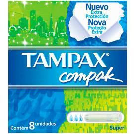 Absorvente Tampax compak super com 8 unidades