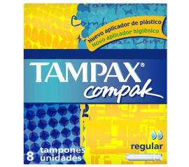 Absorvente Tampax compak médio regular com 8 unidades
