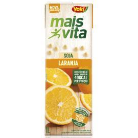 Bebida de soja Yoki mais vita sabor laranja 1L