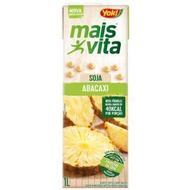 Bebida de soja Yoki mais vita sabor abacaxi 1L