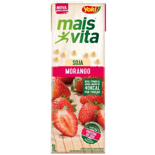 Bebida de soja Yoki mais vita sabor morango 1L - Imagem em destaque