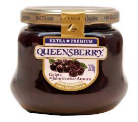 Geleia Queensberry sabor jabuticaba e amora diet 280g