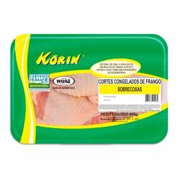 Sobrecoxa de frango congelado Korin 600 g