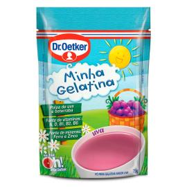 Gelatina em pó Oetker minha gelatina sabor uva 75g