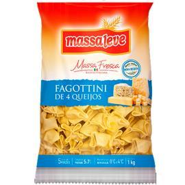 Fagottini Massa Leve 4 queijos 1kg
