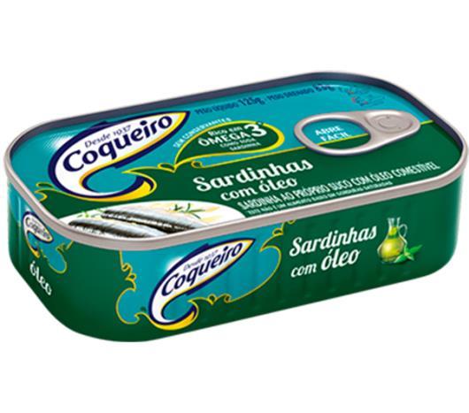 Sardinha Coqueiro ao óleo de soja 125g - Imagem em destaque