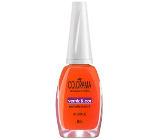 Esmalte verniz&cor 40 graus Colorama 8ml - Imagem em destaque