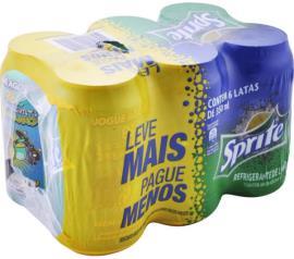 Refrigerante Sprite lata leve mais pague menos com 6 unidades 2,1L