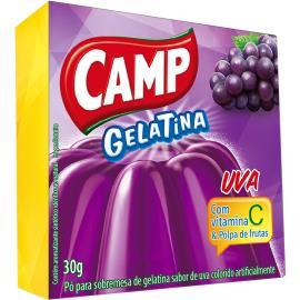 Gelatina em pó Camp uva 30g