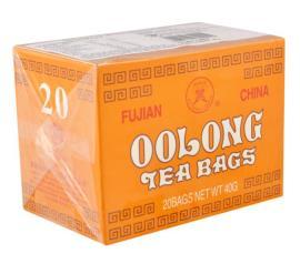 Chá preto OOLong Fujian com 20 unidades 40g