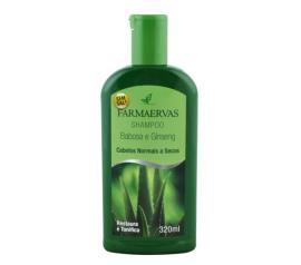 Shampoo Farmaervas de babosa e ginseng 320ml