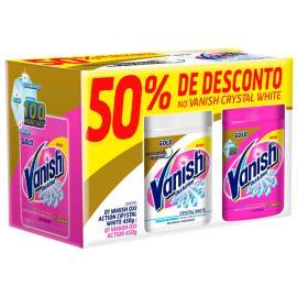 Alvejante Vanish Oxi Action 450g + Crystal White 450g com 50% de Desconto no Crystal White