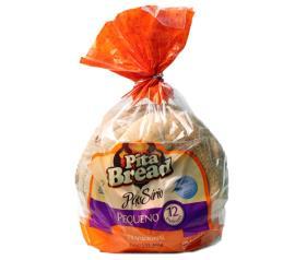 Pão sírio Pita Bread pequeno 400g