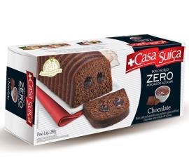Bolo Casa Suíça zero adição de açúcar sabor chocolate 280g