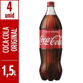 Refrigerante Coca-Cola pet 1,5L c/ 4 unidades