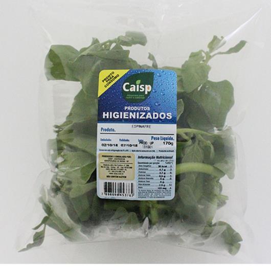Espinafre higienizado Caisp bandeja 150 g - Imagem em destaque
