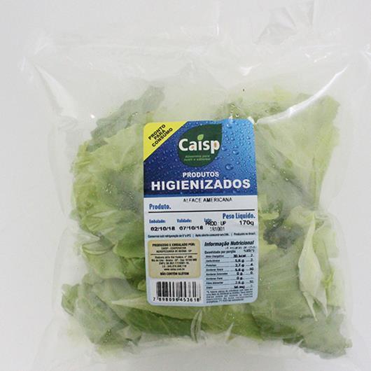 Alface Caisp Americana Higienizada Bandeja - Imagem em destaque