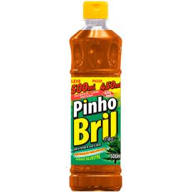 Desinfetante pinho silvestre Pinho Bril leve 500ml pague 450ml