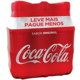 Refrigerante Coca Cola TRADICIONAL pet 600ml  Leve + Pague - com 6 unidades