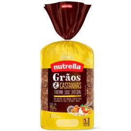 Pão grãos castanha Nutrella 450g