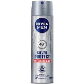 Desodorante Nivea aerossol for men silver protect 93g