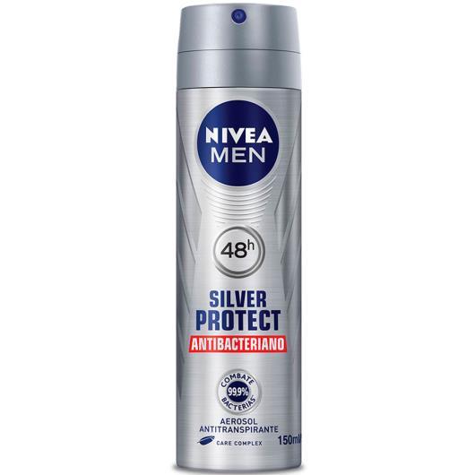 Desodorante Nivea aerossol for men silver protect 93g - Imagem em destaque