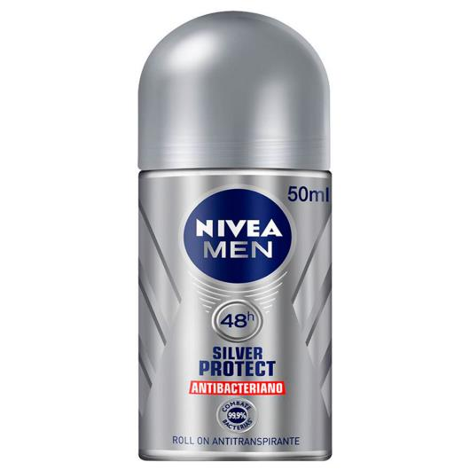 Desodorante Nivea roll on for men silver protect 50ml - Imagem em destaque