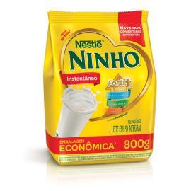 Leite em pó integral instantâneo NINHO Forti+ sachê 800g