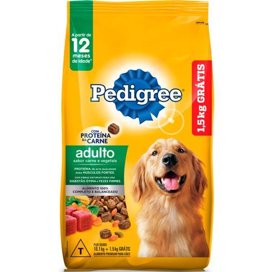 Ração Pedigree Carne & Vegetais Leve 11.6kg Pague 10.1kg - Imagem em destaque