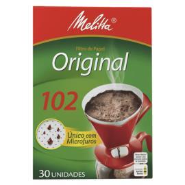 Coador de papel Melitta médio 102 com 30 unidades