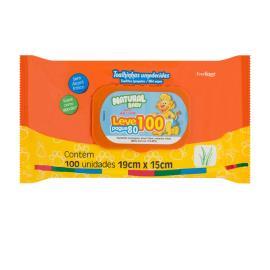 Toalha umedecida Baby Wipes natural leve 100 pague 80