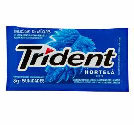 Chiclete sabor  hortelã Trident 8 g