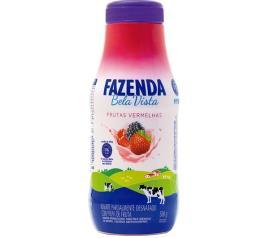 Iogurte Bela Vista Fazenda sabor frutas vermelhas líquido 500g