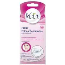 Folha depilatória Veet facial pele normal