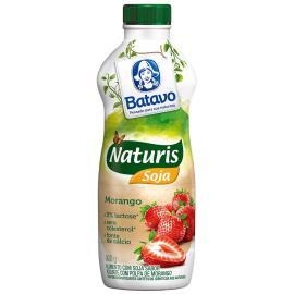 Alimento de soja Batavo Naturis iogurte de morango líquido 900ml