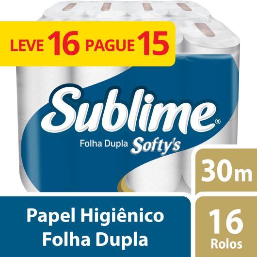 Papel higiênico Softy's neutro 30 metros Leve 16 Pague15 - Imagem em destaque