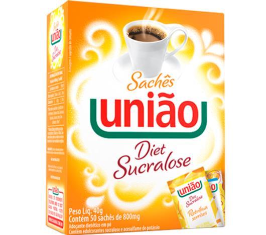 Adoçante Sucralose União Sachê 50 unids de 0,8g - Imagem em destaque