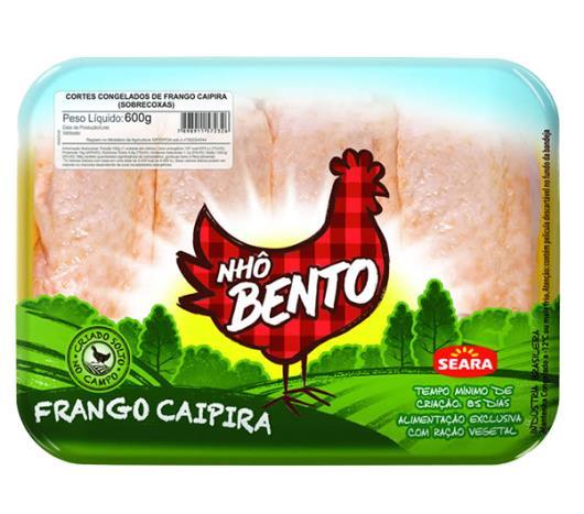 Sobrecoxa de frango congelada Nhô Bento 600 g - Imagem em destaque