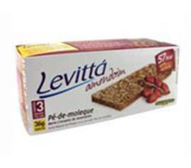 Barra de cereais Levittá sabor amendoim pé de moloque 36g