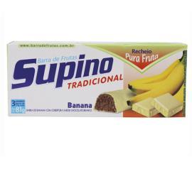 Barra de frutas Supino tradicional banana e chocolate branco 81g