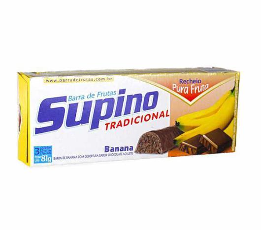 Barra de frutas Supino sabor banana e chocolate ao leite light 81g - Imagem em destaque