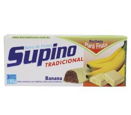 Barra de frutas Supino sabor banana e chocolate branco light 81g