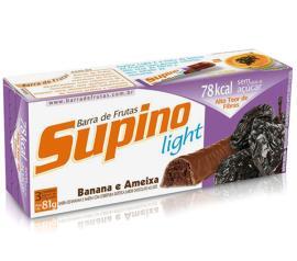 Barra de frutas Supino sabor banana e ameixa light 81g