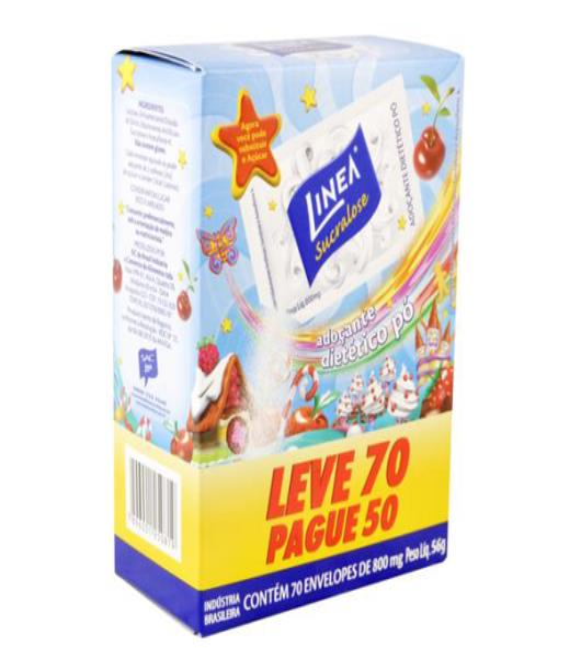 Adoçante em pó diet Linea Leve 70 Pague 50 Envelopes 56g - Imagem em destaque