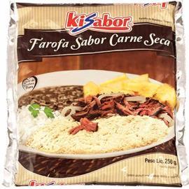 Farofa de carne seca Kisabor 250g