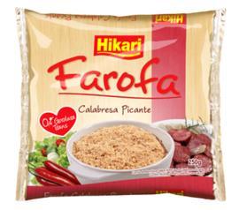Farofa de mandioca Hikari sabor calabresa picante 250g