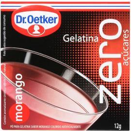 Gelatina em pó Dr. Oetker sabor morango zero 12g