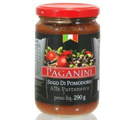Molho Paganini Tomate Alla Puttanesca Vidro 290g
