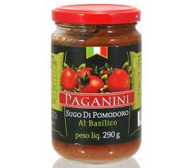 Molho Paganini Tomate Al Basilico Vidro 290g